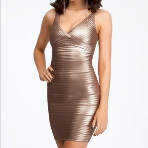 BeBe bandage sequin dress